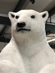 Giant standing Polar bear