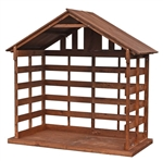"72"" Large Scale Wood Stable"