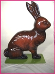 Fiberglass painted chocolate Easter rabbit