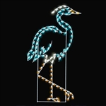 LED Lighted Silhouette Great Heron Display