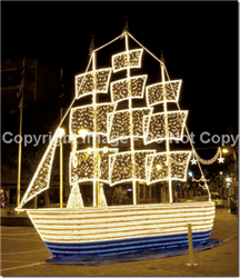 Giant 3-D Ice Boat with LED Lights