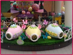 Fiberglass Easter Peek A Boo Eggs