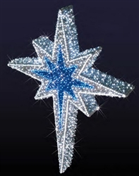 Giant 3D Hanging Blue Moravian Star Ornament
