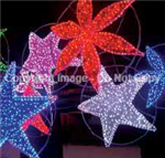 giant stars with LED lights