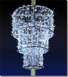 3-D Chandelier with aluminum frame