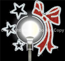 LED lit 2-D Boulevard decor