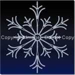wall mount LED Snowflakes