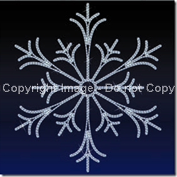 2-D wall mount LED Snowflakes in 6 sizes