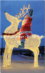 Giant Reindeer & Santa made of aluminum with steel base