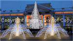 3-D LED lit Fountain with 4 sides