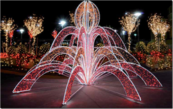 LED lighted fountain