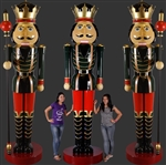 Fiberglass Nutcracker with Scepter in left or right hand