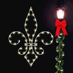 Fleur-de-lis decoration with LED bulbs