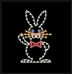 LED Lighted 5' Easter Rabbit