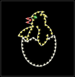 LED Lighted 5' Chick in Egg