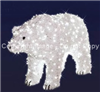 3-D walking Polar bear with LED Lights