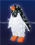 Large 3-D Penguin with garland