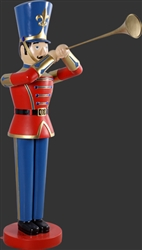 Fiberglass 6' toy soldier with Trumpet