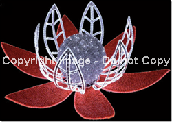 3-D Water Lily with LED rope lights