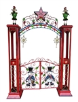Christmas gate with arch
