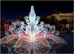 giant Tulip Fountain with plexiglass panels