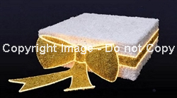 3-D Gold and White Gift box with LED lights