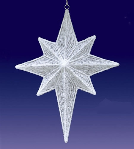 47 3 D White Hanging Nativity Star