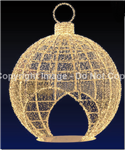 FDS 3D Lighted Giant Walkthrough Christmas Ornament Display