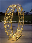 3-D Knitted ring with warm white LED lights