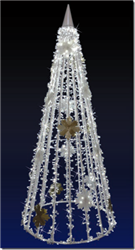 7' and 13' Tree with crystal chains