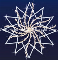 Giant snowflakes for wall or building mount