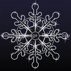 2D Patterned Facade Giant Christmas Snowflake