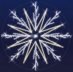 giant snowflake for building mount