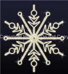 LED lighted giant snowflakes