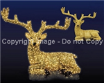 Giant laying deer with carpet garland