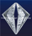 Hanging aluminum diamond ornament