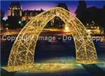 Giant Arch made from aluminum and tempered steel