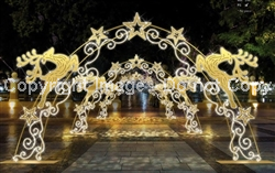 2-D arch with LED Lights