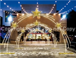 LED rope lighted Star Arch