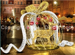 3-D Giant Ornament with oversized Ribbon
