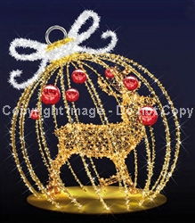 3-d Ornament with LED Lights