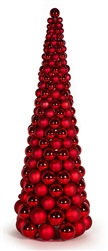Shiny and Matte Ornament cone tree