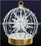 LED lighted Ball ornament with sphere and LED rope lights