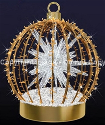 3-D Ornament with white Sphere inside