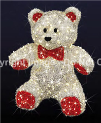 Large Teddy Bear with carpet garland