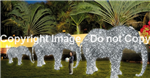 3-D LED lighted elephants