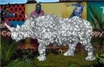 Life size Rhino with LED Lights