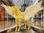 3-D Giant Standing Pegasus winged horse with LED lights