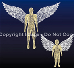 3-D Standing Angel Child with base plates