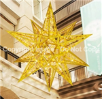 Giant 3-D moravian star lit with LED lights